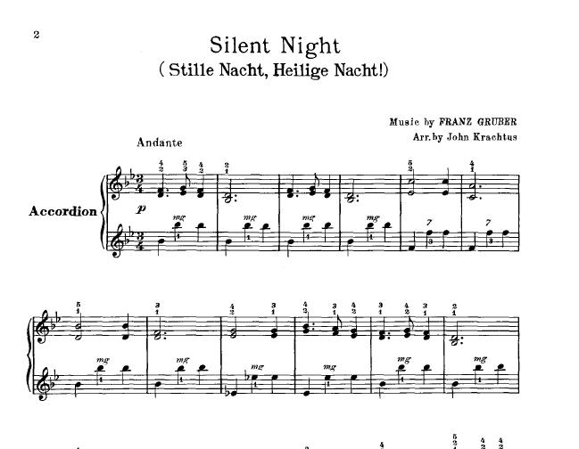 O Tannenbaum Lyrics.Accordion Silent Night O Tannenbaum
